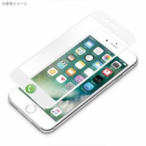 □ iPhone7 (4.7インチ) 専用 液晶保護フィルム 3D全面保護 光沢 ホワイト PG-16MHD04WH【レビューを書いてメール便送料無料】