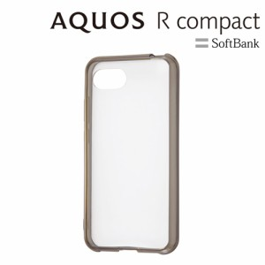 ☆ Softbank AQUOS R compact 専用 ハイブリッドケース ブラック RT-AQRCOCC2/BM[レビューを書いてメール便送料無料]