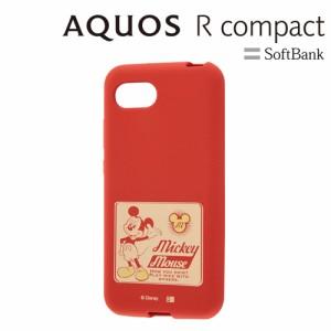 ☆ ディズニー AQUOS R compact 専用 シリコンケース ミッキー RT-DAQRCOE/MK[レビューを書いてメール便送料無料]