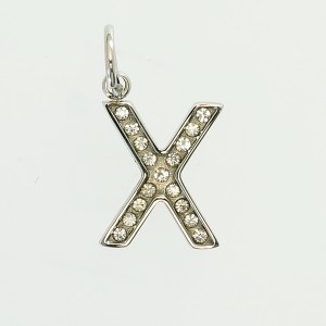ステンレス アルファベット 【X】 チャーム・ペンダントヘッド (サージカルステンレス) 【DM便 送料無料】
