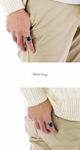 ド迫力【送料無料】ラウンド型 カボション オニキスリング 爪 クロウ 黒瑪瑙 天然石 パワーストーン シルバー925 リング 指輪◆HR指輪