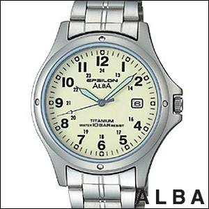 ALBA アルバ 腕時計 ASSX001 メンズ イプシロン EPSILON 純チタン SEIKO 国内セイコー