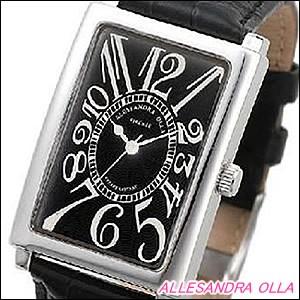 Alessandra Olla 腕時計 アレッサンドラオーラ 時計 AO-4500BK-BK メンズ モデル スクエアフェイス
