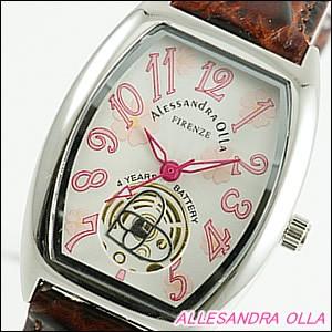 Alessandra Olla 腕時計 アレッサンドラオーラ 時計 AO-4850-BRLadys レディース 桜柄