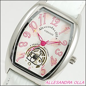 Alessandra Olla 腕時計 アレッサンドラオーラ 時計 AO-4850-WHLadys レディース 桜柄
