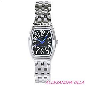Alessandra Olla 腕時計 アレッサンドラオーラ 時計 AO-981BKLadys レディース トノー型 レディース