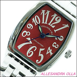 Alessandra Olla 腕時計 アレッサンドラオーラ 時計 AO-985RELadys レディース トノー型 レディース