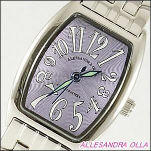 Alessandra Olla 腕時計 アレッサンドラオーラ 時計 AO-987PURLadys レディース トノー型 レディース