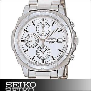 正規品 海外SEIKO 海外セイコー 腕時計 SND187P1 メンズ クロノグラフ シルバー/ホワイト SND187P