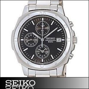 正規品 海外SEIKO 海外セイコー 腕時計 SND191P1 メンズ クロノグラフ シルバー/ブラック SND191P