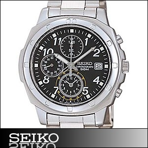 正規品 海外SEIKO 海外セイコー 腕時計 SND195P1 メンズ クロノグラフ シルバー/ブラック SND195P