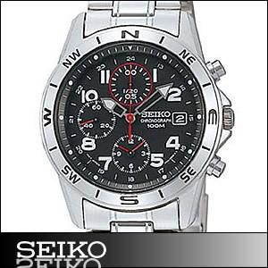 正規品 海外SEIKO 海外セイコー 腕時計 SND375P1 メンズ クロノグラフ シルバー/ブラック SND375P
