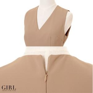 パーティードレス パンツドレス ワンピース ドレス お呼ばれ 大きいサイズ パンツスタイル パンツ オールインワン 二次会 パーティー