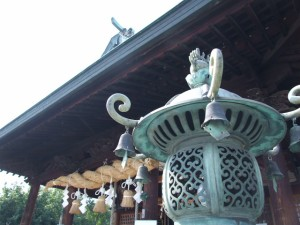 足腰健康お守り グリーン ちりめん草履根付 岩国に鎮座する神社白崎八幡宮で祈願済み