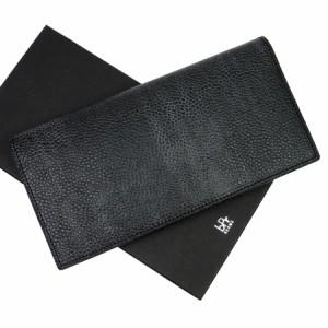 【中古】ビームス 二つ折り長財布◆メンズ◆定番人気 ブラック t10055