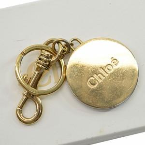 【中古】クロエ キーホルダー ◆  レディース ◆定番人気 ゴールドカラーxレッド k8015