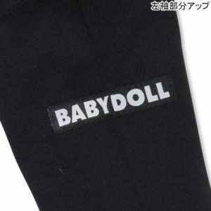 SALE50%OFF アウトレット 親子ペア 箔ロゴロンT 大人 男女兼用 レディース メンズ ベビードール子供服-9733A(XLあり)