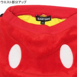 NEW ディズニー なりきりボアロングパンツ-ベビーサイズ キッズ ベビードール 子供服/DISNEY-9748K ハロウィン 仮装 コスプレ