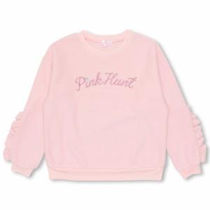 NEW PINKHUNT 袖フリルトレーナー-キッズ ジュニア ベビードール 子供服-9820K