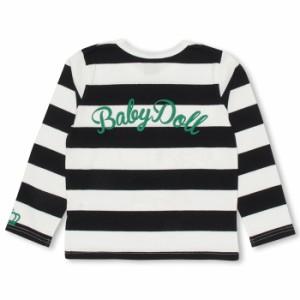 限定SALE60%OFF アウトレット ディズニー ボーダーロンT ベビーサイズ キッズ ベビードール 子供服/DISNEY-9925K