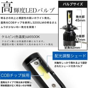 Y60 サファリ 極 LEDヘッドライト H4 Hi/Lo 12V車用 30W 3200LM 6500K