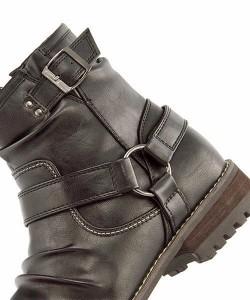 エンジニアブーツ メンズ サイドジップ ビザリー bizarree 18135 ブラック