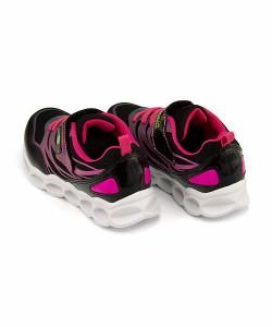 スニーカー 女の子 キッズ 子供靴 光る靴 スピードウィング SPEED WING 1017 ブラック