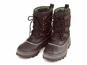 ソレル ウィンターブーツ スノーブーツ 長靴 メンズ カリブー XT CARIBOU XT SOREL NM2138 ブラック/シェイル