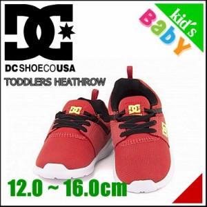 ディーシーシュー 女の子 男の子 キッズ 子供靴 スニーカー トドラーズ ヒースロー ADTS700041 レッド