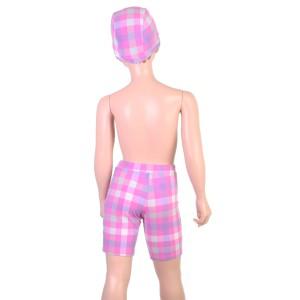 【あす着】Arnold Palmer(アーノルドパーマー)男児水着・ブロックチェック柄スイムパンツ(帽子付)71767(パケット便送料無料)
