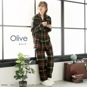 ルームウェア セット ネルシャツ パジャマ 上下セット(男女兼用サイズ) 805566 (エメフィール)