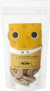 ドットわん クッキー 納豆 18枚入り 【国産・無添加・自然食ドッグフード】