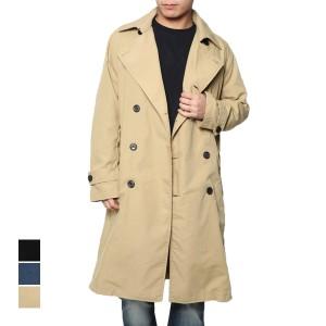 【送料無料】コート トレンチコート ロングコート ロング シンプル ベーシック アウター メンズ ベージュ ブラック デニム SALE セール