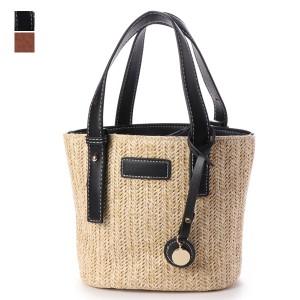 539fc5ed600469 トートバッグ かごバッグ ストローバッグ 2WAY チャーム付き 巾着 鞄 かばん バッグ レディース ブラック ブラウン. 商品イメージ