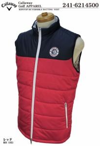 キャロウェイ ゴルフ メンズウェア リップストップ リバーシブル 中綿ベスト 241-6214500