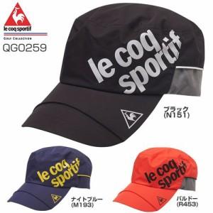 ルコック ゴルフ メンズウエア Le coq sportif GOLF レイン ワークキャップ QG0259
