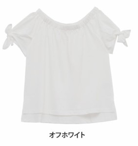 M〜5L/オフショルでも着用可 リボン袖 半袖 プルオーバー■トップス カットソー [10856414/856414] 大きいサイズ