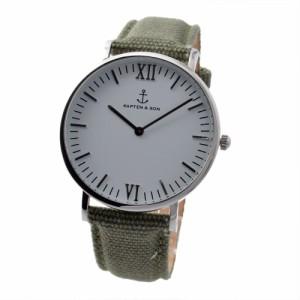 キャプテンアンドサン KAPTEN & SONS Campus-C-SWO キャンバス 40mm ユニセックス腕時計 ブランド クロス セット 送料無料