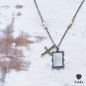 Edda エッダ クロス プレート シルバー 真鍮 ネックレス レディース メンズ EP-033 【送料無料】 クリスマス ギフト