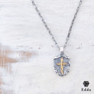 Edda エッダ クロス プレート シルバー 真鍮 ネックレス レディース メンズ EP-034 【送料無料】 誕生日プレゼント ギフト