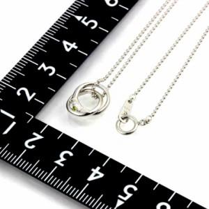 天然ダイヤ×8月誕生石ペリドット2連リング トップ ネックレス ギフト 送料無料 誕生日プレゼント ギフト