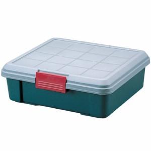 収納 ボックス アイリスオーヤマ 車 RVBOX RVボックス 450F グレー/ダークグリーン(幅45×奥行40×高さ15.5cm)