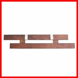 壁に付けられるすのこ2本(S型フック2個付) ダークブラウン KBS-6613DB オスマック(株)  プラザセレクト