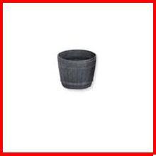 ≪リサイクル木粉40%入り≫木樽風ポット 3号 ダークブラウン  アイリスオーヤマ