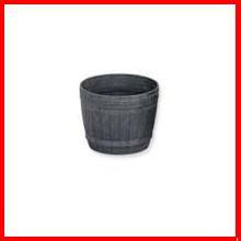 ≪リサイクル木粉40%入り≫木樽風ポット 4号 ダークブラウン  アイリスオーヤマ