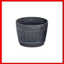 ≪リサイクル木粉40%入り≫木樽風ポット 5号 ダークブラウン  アイリスオーヤマ