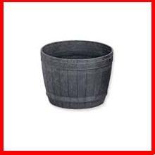 ≪リサイクル木粉40%入り≫木樽風ポット 6号 ダークブラウン  アイリスオーヤマ