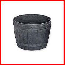 ≪リサイクル木粉40%入り≫木樽風ポット 7号 ダークブラウン  アイリスオーヤマ
