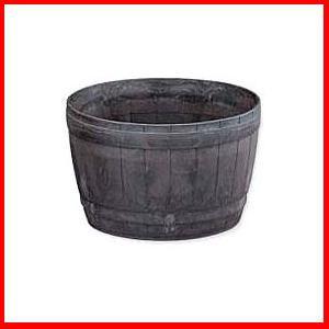≪リサイクル木粉40%入り≫木樽風ポット 10号 ダークブラウン  アイリスオーヤマ