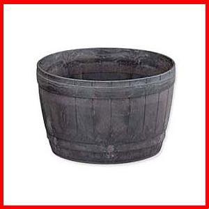 ≪リサイクル木粉40%入り≫木樽風ポット 12号 ダークブラウン  アイリスオーヤマ